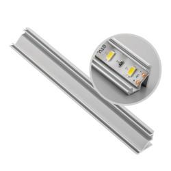 Aliuminio profilis LED juostoms kampinis (anoduotas, pridedamas)