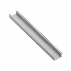 Aliuminio MINI profilis LED juostoms (anoduotas, prisukamas)