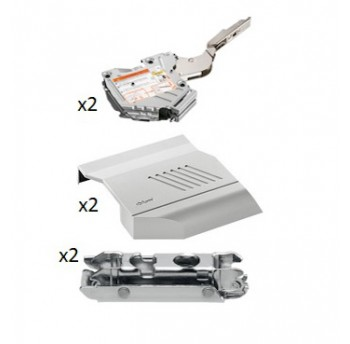 BLUM Aventos HK-S pakėlimo mechanizmas su švelnaus uždarymo funkcija