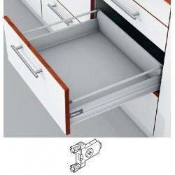 Blum Tandembox stalčius su šv. pritraukimo funkcija, H-140mm, su gręžiamu fasado laikikliu