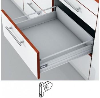 Blum Tandembox stalčius su šv. pritraukimo funkcija, H-140mm, su prisukamu fasado laikikliu