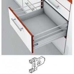 Blum Tandembox stalčius su šv. pritraukimo funkcija, H-204mm su 2 kartelėmis, su gręžiamu fasado laikikliu