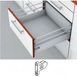 Blum Tandembox stalčius su šv. pritraukimo funkcija, H-204mm su 2 kartelėmis, su prisukamu fasado laikikliu