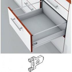 Blum Tandembox stalčius su šv. pritraukimo funkcija, H-204mm su 1 kartele, su gręžiamu fasado laikikliu