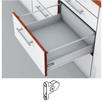 Blum Tandembox stalčius su šv. pritraukimo funkcija, H-204mm (65kg) su 1 kartele, su prisukamu fasado laikikliu