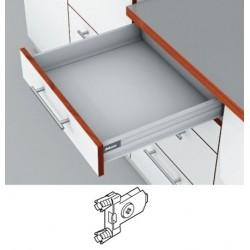 Blum Tandembox stalčius su šv. pritraukimo funkcija, H-83mm, su gręžiamu fasado laikikliu