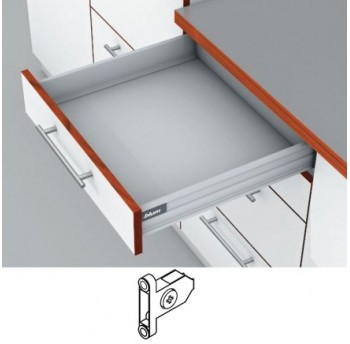 Blum Tandembox stalčius su šv. pritraukimo funkcija, H-83mm, su prisukamu fasado laikikliu