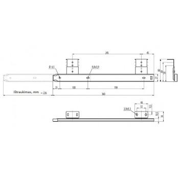 Bėgeliai klaviatūrai guoliniai H-27mm