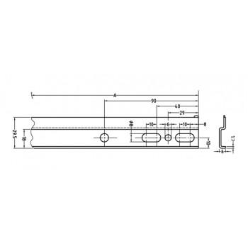 Pakabinimo plokštelė spintelėms L-130 mm