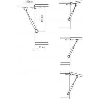 Dujinis trumpas mechanizmas durelių pakėlimui