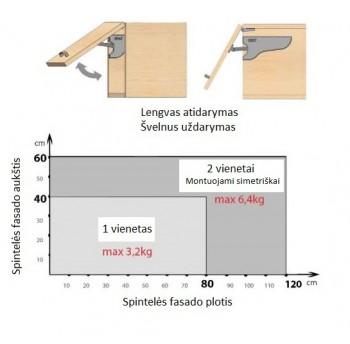 Pakėlėjas pilkas AirticLift (dešinė)