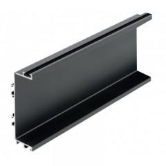 Vello centrinis profilis C horizontalus, juodas (4,1 m)