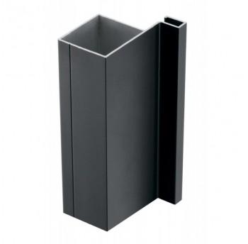 Vello šoninis profilis J vertikalus, juodas (3 m)