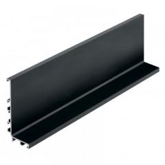 Vello viršutinis profilis L horizontalus, juodas (4,1 m)