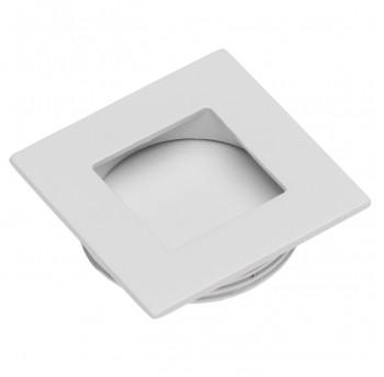 Įleidžiama balta rankenėlė kvadratinė