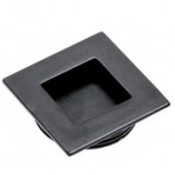 Įleidžiama juoda rankenėlė kvadratinė