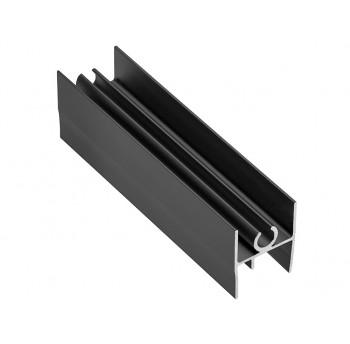 Viršutinis horizontalus juodas rėmas LG18 18/4 mm (3 m)