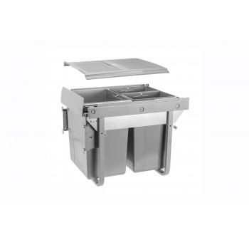 Šiukšliadėžė ištraukiama 450mm su švelniu pritraukimu (su fasado tvirtinimu)