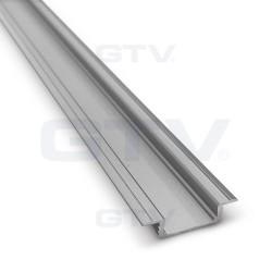 Aliuminio profilis LED juostoms (anoduotas, įfrezuojamas)