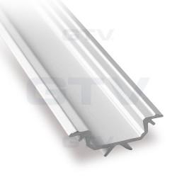 Aliuminio profilis LED juostoms (anoduotas, kampinis)