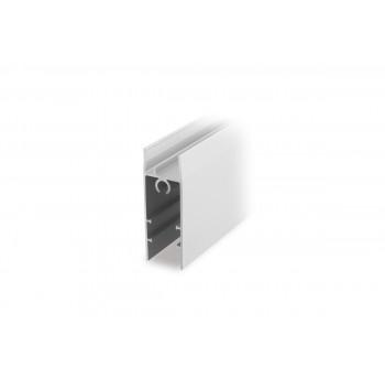 Apatinis horizontalus baltas rėmas LD18 18/4 mm (3 m)