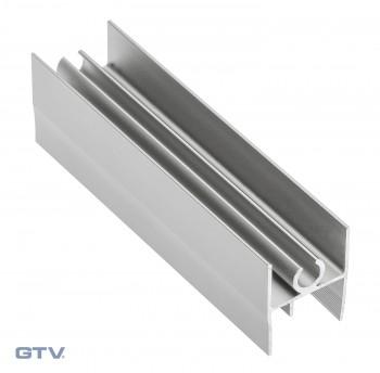 Viršutinis horizontalus baltas rėmas LG10 10/4 mm (3 m)