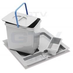 Šiukšliadėžė pastatoma į stalčių