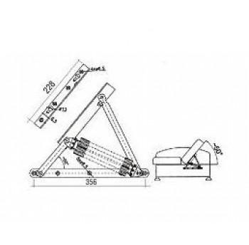 Lovos pakėlimo mechanizmas KP-2