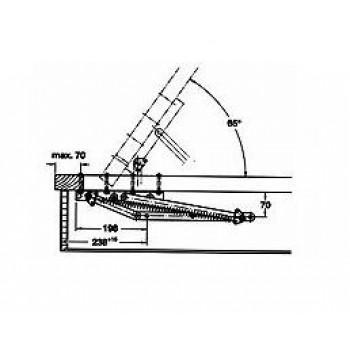 Lovos pakėlimo mechanizmas KP-3